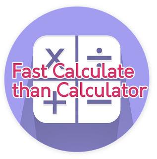 fast calculation
