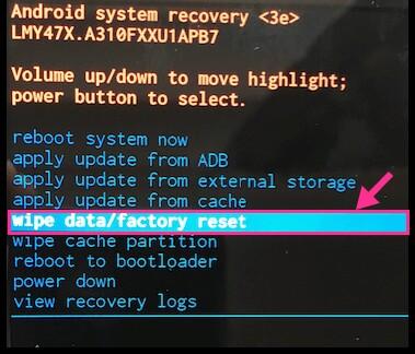 phone format reset